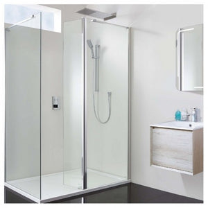 Phoenix Techno 10mm Complete Hinged Corner Walk-In Enclosure 1400 x 900mm