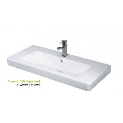 Eastbrook Sorrento 100cm Ceramic Wall Hung Basin & waste