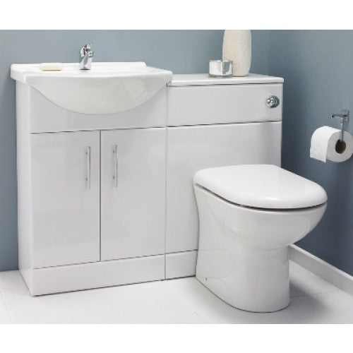 Premier Saturn High Gloss White 1050mm Furniture Pack