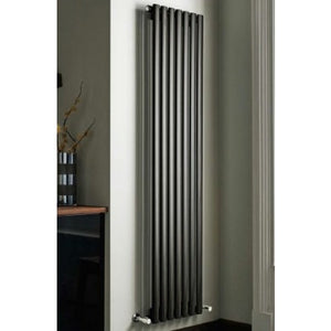 Kartell Aspen Single Vertical Radiator 1800 x 300 Black