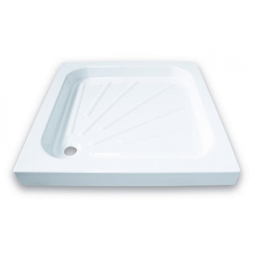 Mere Standard Square Resin Shower Tray 700 x 700 And Waste