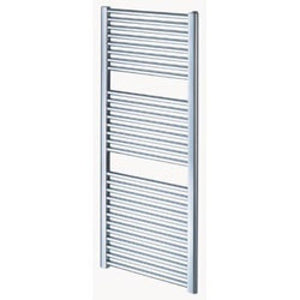 Arley loco 600mm x 400mm straight heated towel warmer - chrome.
