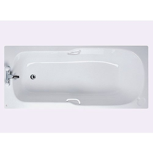 Ideal standard studio 1700mm x 700mm 2th bath & white grips