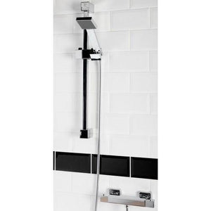 Squire Square Thermostatic Shower Bar Valve with shower rail kit