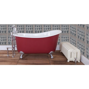 JIG Lyon Cast Iron Roll Top Slipper Bath (1370x730mm) with Feet
