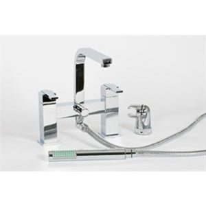 Alliance troon luxury deck mounted bath shower mixer & kit.
