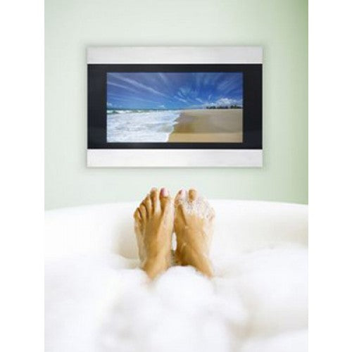 Techvision 19 Waterproof Tv Black & Steel
