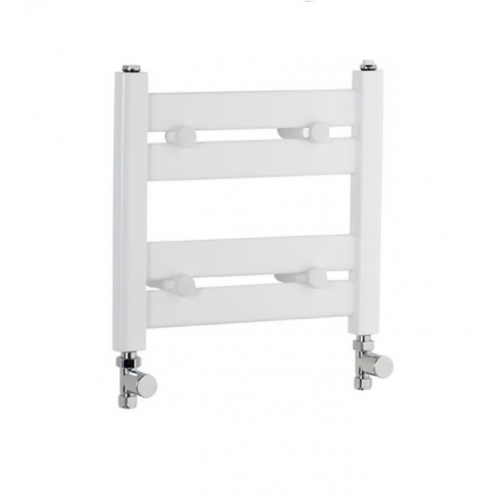 Eastbrook Staverton 340mm x 400mm towel rail - White