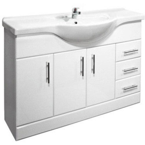 Premier High Gloss White 1200mm Basin Unit