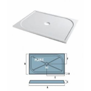 EASTBROOK VOLENTE VANGUARD 25 RECTANGULAR SHOWER TRAY & Waste 1400 x 800