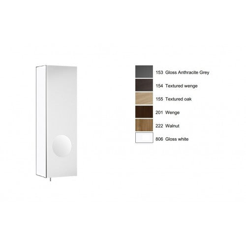 Roca Luna RIGHT hand mirror cabinet with integrated magnifying mirror white 856843806