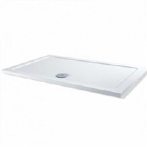 Mx solutions rectangular 1000 x 800mm low profile shower tray & raised installation kit.