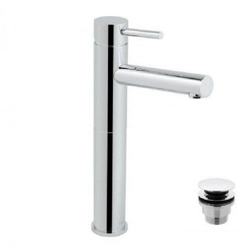 Vado zoo extended single lever mono basin mixer with clic clac waste