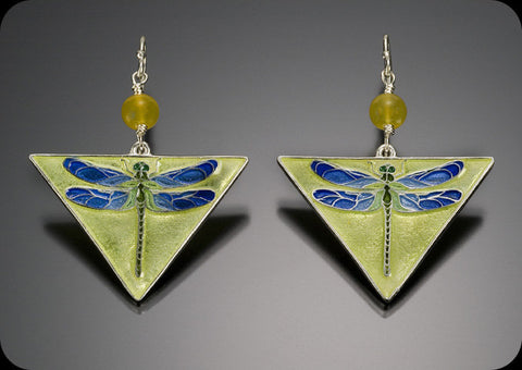Triangle Dragonfly Earrings