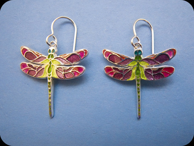Small Dragonfly Earrings (rose)
