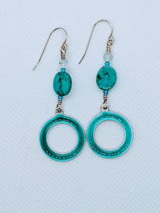Circle Enameled Earrings