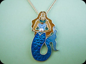 Mermaid Pendant (aqua)
