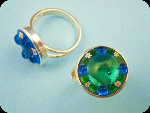 Jeweled Enamel Ring