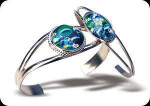 Jeweled Enamel Bracelets