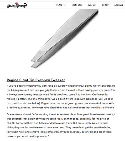 regine tweezers slant tip tweezer eyebrow hair puller review blog