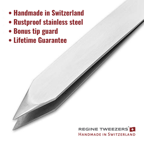 regine waxing tweezer world's best tweezers switzerland etched aligned tips wax esthetician