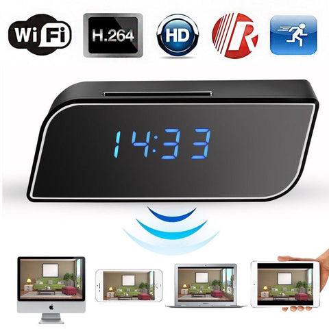 Image of 1080P Wireless Wifi IR Motion Security Clock