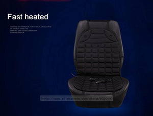 12V Heated Car Seat Cushion (Black/Grey)