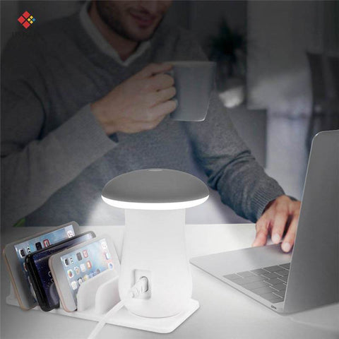 Multi-Port Fast Charging Dock & Lamp