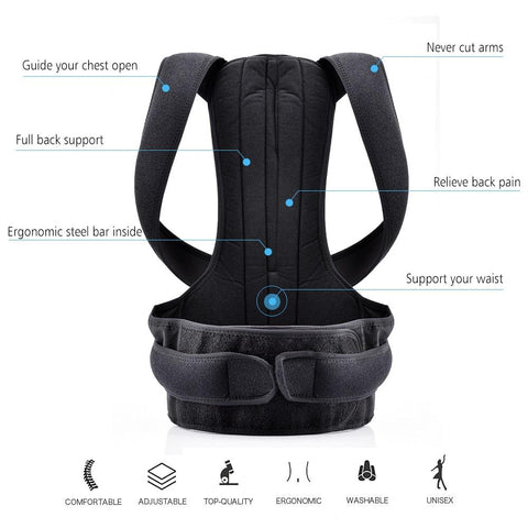 Image of Full Back Posture Corrector Brace for Scoliosis and Back Pain