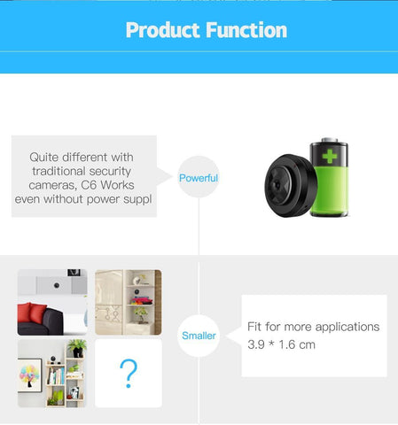 Magnetic Mini Wifi Spy Camera