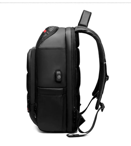15.6 Inch Laptop Travel Backpack Water Repellent Functional Rucksack With USB Charging Port