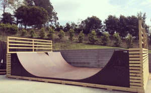 5ft Halfpipe - 4.8m Wide (Installed)