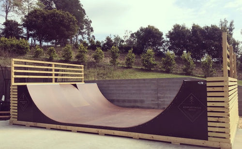 5ft Halfpipe - 2.4m Wide (Flat Pack)