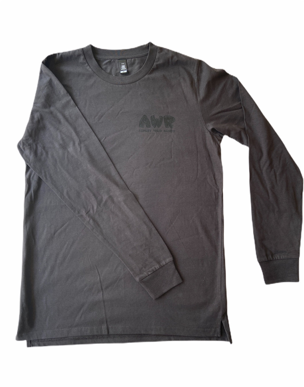 Mens long sleeve Skeli logo T-shirt - Coal