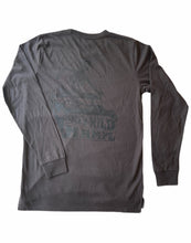 Load image into Gallery viewer, Mens long sleeve Skeli logo T-shirt - Coal