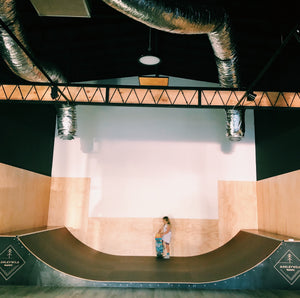 Installed - 4 foot halfpipe - 2.4m wide