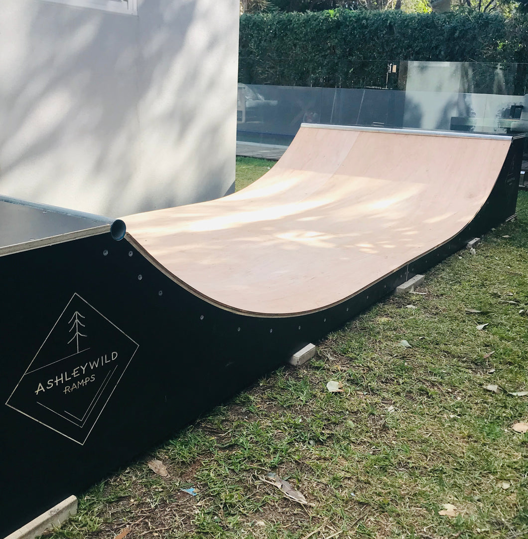 Installed - 2 Foot Halfpipe - 4.8m wide