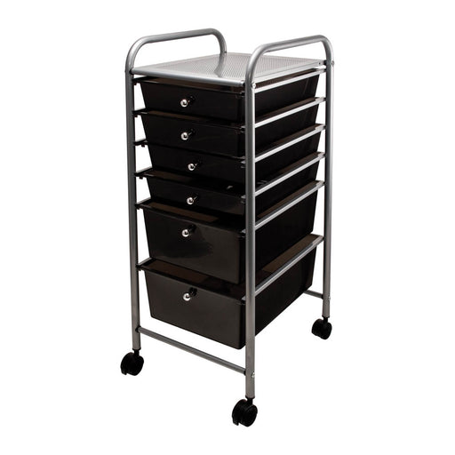 Advantus 6 Drawer Organizer, Smoke colored Drawers