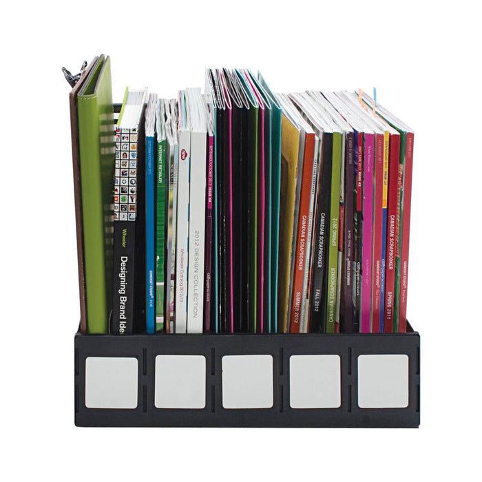 Advantus Magazine and Literature File, 5 Compartments, Black
