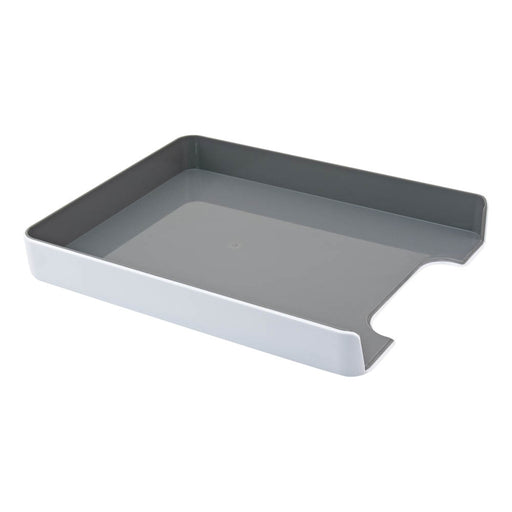 Fusion Letter Tray, White/Gray