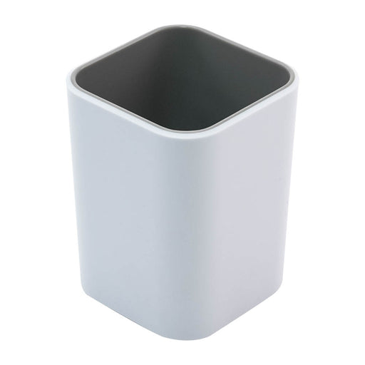 Fusion Pencil Cup, White/Gray