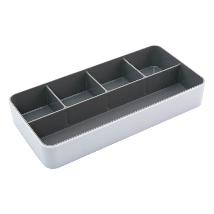 Fusion Desk Tray, White/Gray