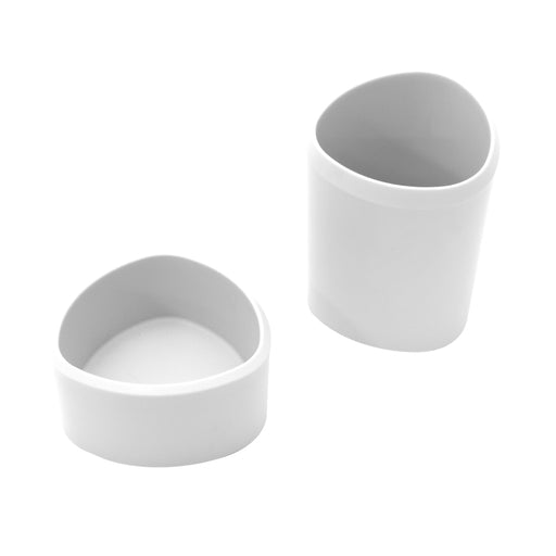 Silhouette Stuff Cups, White, 2/PK