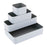 Fusion Stackable 4 pack, White/Gray