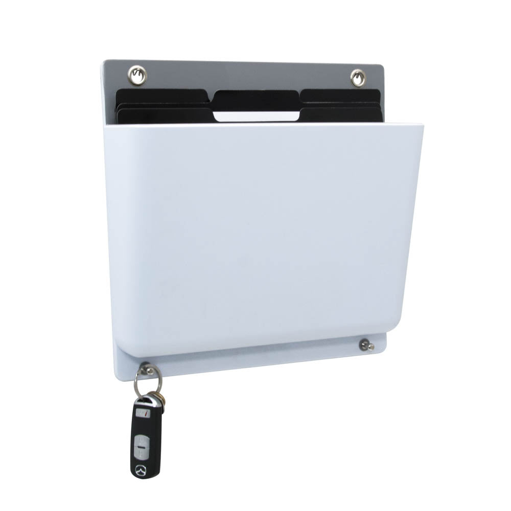 Fusion Hanging Wall File, White/Gray