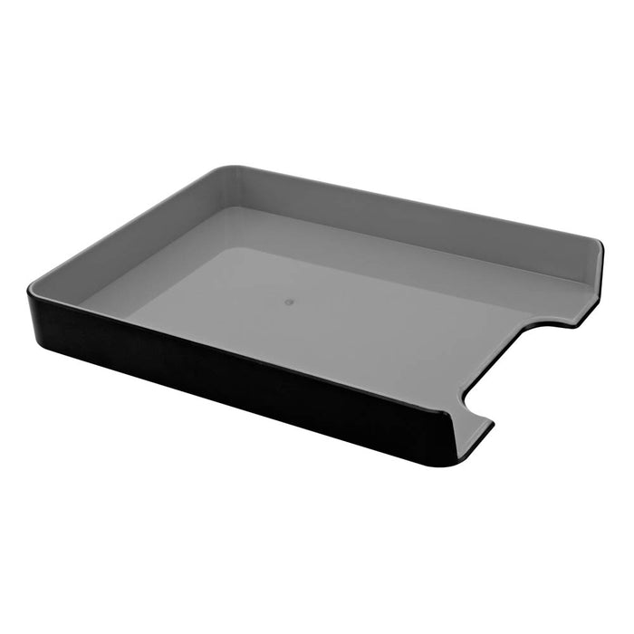 Fusion Letter Tray, Black/Gray