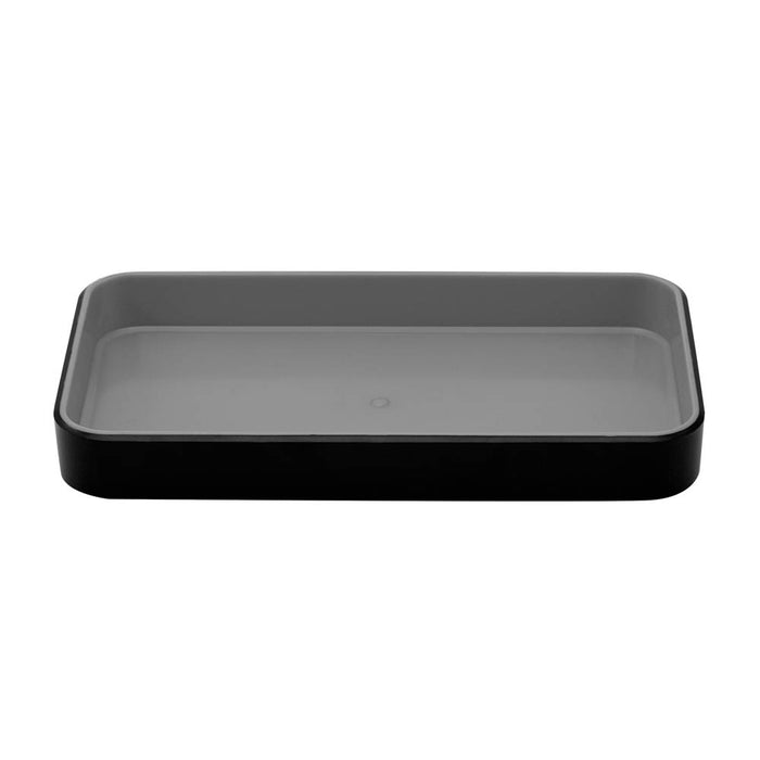 Fusion Small Open Tray, Black/Gray