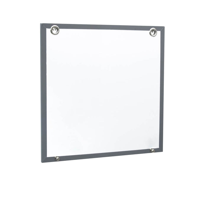 Fusion Dry Erase Board, White/Gray