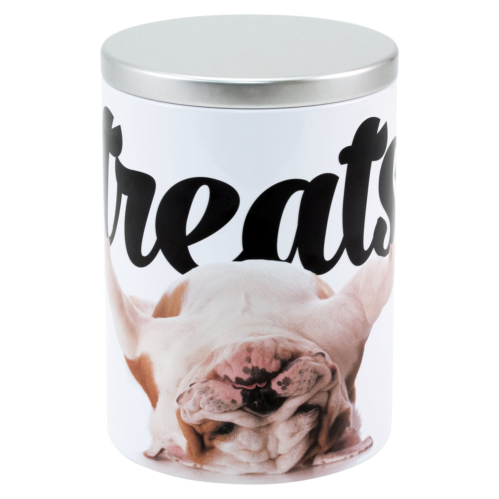 PawPrints Large Treat Tin, Bulldog