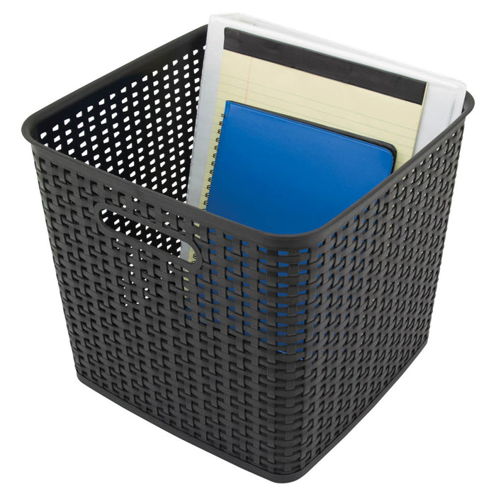 Advantus Extra Large Weave Bin, Black